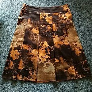 Zara Basic brown and orange skirt
